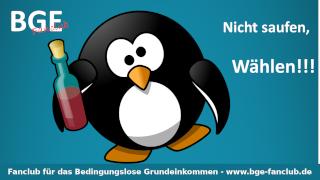 Pinguin nicht saufen - Bild größer - Download oder Link kopieren